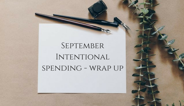 September Intentional Spending – Wrap Up