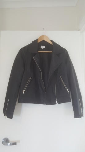 Target faux leather jacket